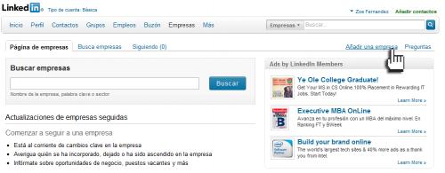 Agregar una empresa a LinkedIn